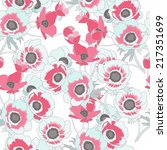 poppies colorful vector... | Shutterstock .eps vector #217351699