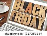 black friday   text in vintage... | Shutterstock . vector #217351969