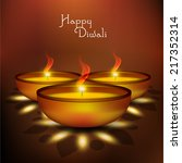 vector design of diwali oil... | Shutterstock .eps vector #217352314
