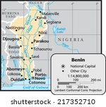 benin country map | Shutterstock .eps vector #217352710