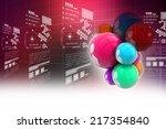 social networking bubbles | Shutterstock . vector #217354840