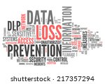 word cloud with data loss... | Shutterstock . vector #217357294