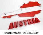 3d map illustration of austria... | Shutterstock . vector #217363939