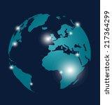 modern globe design  vector... | Shutterstock .eps vector #217364299