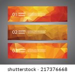 abstract banner with polygon... | Shutterstock .eps vector #217376668