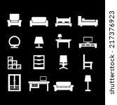 furniture icon | Shutterstock .eps vector #217376923