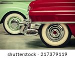 retro styled image of two... | Shutterstock . vector #217379119