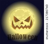 scary smiling moon | Shutterstock .eps vector #217380760