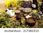 herbs medicine  | Shutterstock . vector #217381513