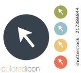 web arrow symbol | Shutterstock .eps vector #217386844