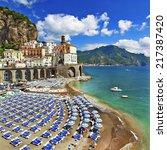 italian holidays   beautiful ... | Shutterstock . vector #217387420