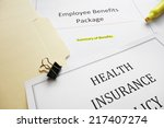 employee benefits package and... | Shutterstock . vector #217407274
