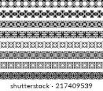 set of eight black illustrated... | Shutterstock .eps vector #217409539