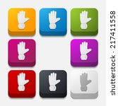 square button  gloves | Shutterstock .eps vector #217411558
