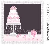 decorated layer cake vector... | Shutterstock .eps vector #217414120