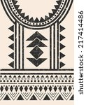 aztec tribal t shirt print in... | Shutterstock .eps vector #217414486
