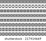 set of eight black illustrated...   Shutterstock .eps vector #217414669