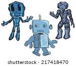 set of hand drawn  sketch... | Shutterstock .eps vector #217418470