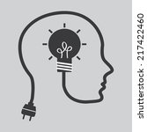 think design over  gray... | Shutterstock .eps vector #217422460