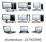 computer technology   computers ... | Shutterstock .eps vector #217423540
