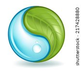 nature elements yin yang | Shutterstock .eps vector #217428880