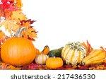 Arrangement Of A Pumpkin And...