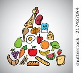 nutrition graphic design.... | Shutterstock .eps vector #217437094