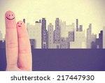 fingers couple | Shutterstock . vector #217447930