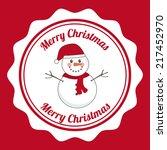 christmas graphic design ... | Shutterstock .eps vector #217452970