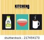 kitchen design over white... | Shutterstock .eps vector #217454173