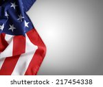 closeup of american flag on... | Shutterstock . vector #217454338