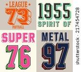 varsity sports vector for... | Shutterstock .eps vector #217454728