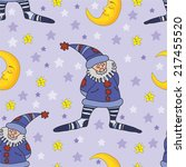pattern with the gnome and the... | Shutterstock .eps vector #217455520