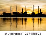 oil refinery factory in... | Shutterstock . vector #217455526