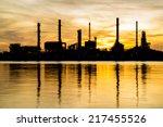 oil refinery factory in... | Shutterstock . vector #217455526