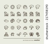 set with icons   weather.  a... | Shutterstock .eps vector #217458190