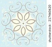 ornamental floral design | Shutterstock .eps vector #217460620