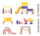 set of playground | Shutterstock .eps vector #217466230