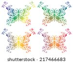 set of abstract multicolored... | Shutterstock . vector #217466683