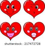 heart face   emotion | Shutterstock . vector #217472728