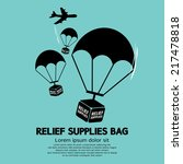 relief supplies bag with... | Shutterstock .eps vector #217478818