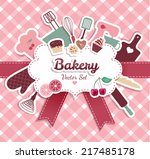 bakery and sweets abstract... | Shutterstock .eps vector #217485178