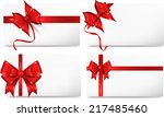 set of beautiful cards with red ... | Shutterstock .eps vector #217485460