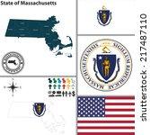 vector set of massachusetts...   Shutterstock .eps vector #217487110