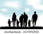 family silhouettes   Shutterstock .eps vector #217491553