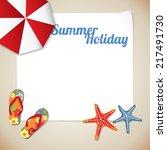 summertime traveling template... | Shutterstock .eps vector #217491730