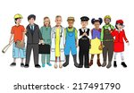 diverse children with various... | Shutterstock . vector #217491790
