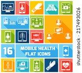 mobile health medicines... | Shutterstock .eps vector #217493026