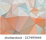 abstract geometric background... | Shutterstock .eps vector #217495444