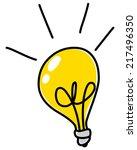 Light Bulb Vector Doodle